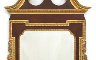 Chippendale Style Mahogany Mirror with Phoenix
