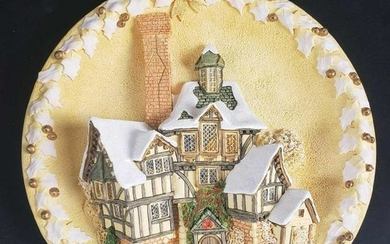 David Winter The Scrooge Family Home Plaque Limited
