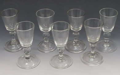 EARLY BLOWN GLASS GOBLET LOT