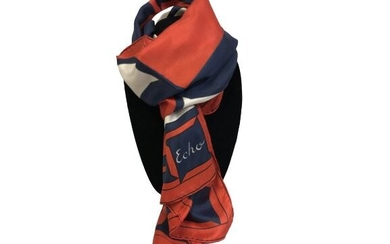 """ECHO RED WHITE & BLUE SCARF 60"""" LONG 15"""" WIDE"""