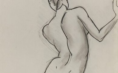 ESPHYR SLOBODKINA Seated Female Nude seen from behind