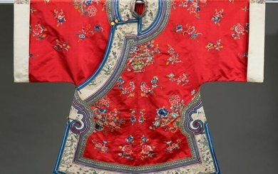 Embroidered women's coat, China, late 19th-early 20th century