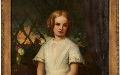 English School, 19th c. Portrait of a Girl in White