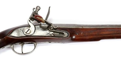 FRENCH FLINTLOCK PISTOL, 19TH C., L 18 1/2""