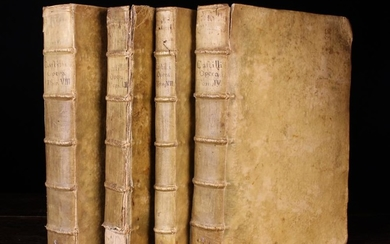 Four 17th Century Volumes of the Complete Works of D. Joannis del Castillo Sotomayor; D. Joannis del