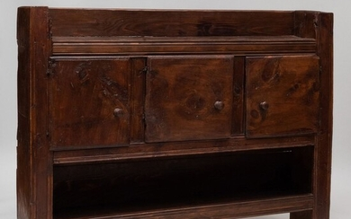 French Provincial Baroque Style Walnut Buffet