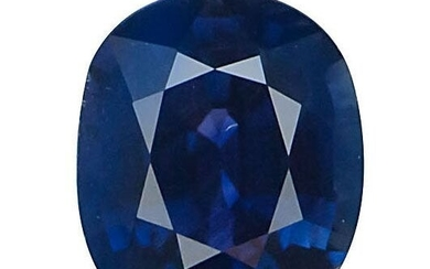 GIA - 2.02 ct. Untreated Dark Blue Sapphire - SRI LANKA