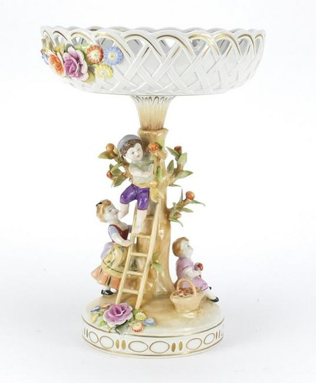 German hand painted porcelain centre piece by Dresden,