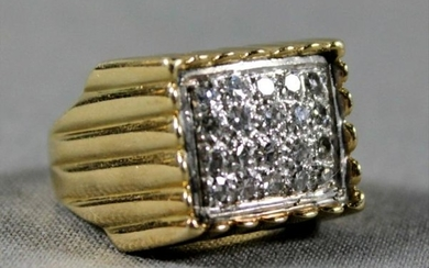 Gold And Diamond Ring