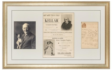 Harry Kellar Memorabilia Collage.