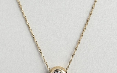 Italian 14K White & Yellow Gold Pendant Necklace