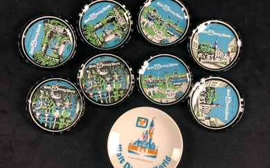 Lot of 9 Vintage Walt Disney World Mini Plates Magic