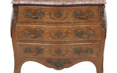 Louis XV-Style Marble-Top Commode