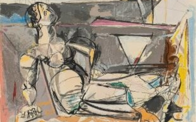 Max Weber (Russian/American, 1881-1961) Reclining Woman