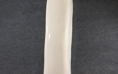 Mid-Century Modern 52 Inch Tall White Ceramic Pillar