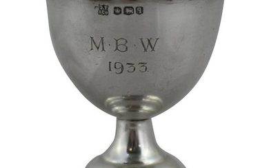 Miniature Silver Footed Cup Sheffield, 1933