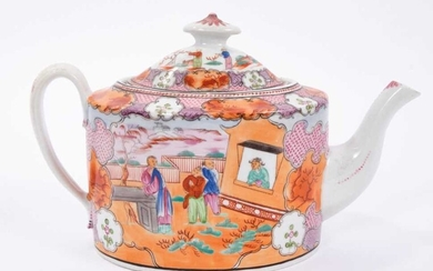 New Hall teapot and cover