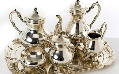 Peruvian coffee and tea set sterling silver 925