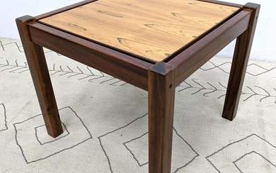 Rosewood Floating Top Side Table. Mid Century Modern.