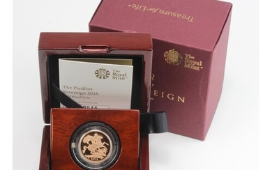 """Sovereign 2018 """"Piedfort"""" Proof FDC boxed as issued"""