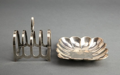 Sterling Dish & Toast Rack, Incl Mappin & Webb, 2