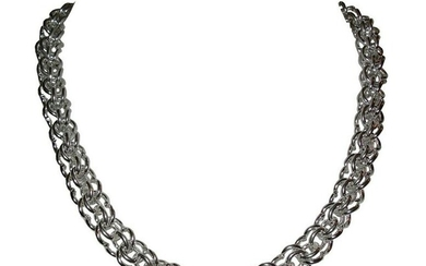 Sterling Silver Hand Made Chain Necklace