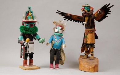 Suite of 3 KACHINA Dolls