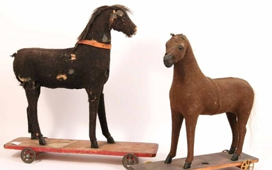 Two Child's Horse Pull Toys
