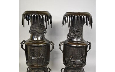 WITHDRAWN FROM SALE: A large and impressive pair of Japanese...