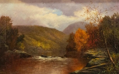 """William Ongley (American, 1836–1890) """"West Branch of"""