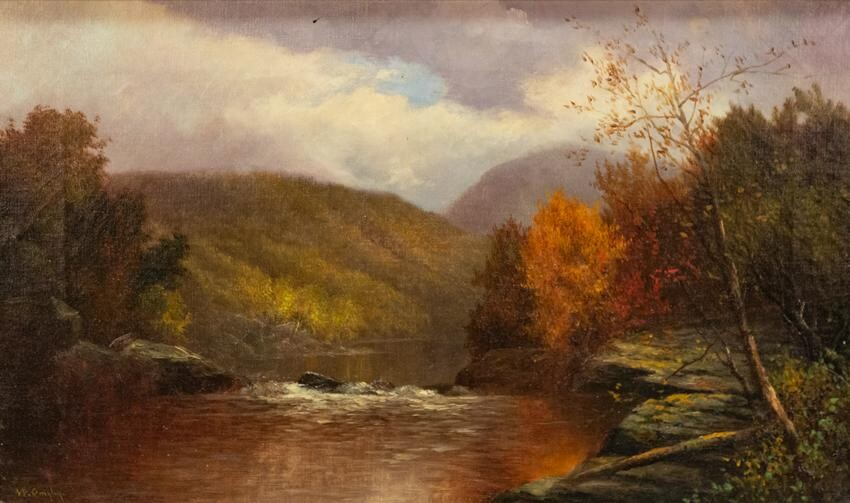 "William Ongley (American, 1836-1890) ""West Branch of"