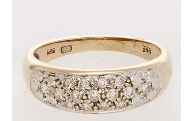 14 kt. Gold - Ring - 0.22 ct Diamond