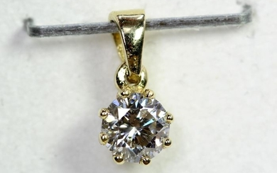14 kt. White gold - Pendant - 0.21 ct Diamond