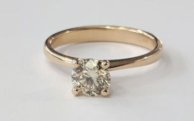 14 kt. Yellow gold - Ring - 0.71 ct Diamond