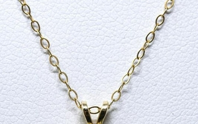 14kt Yellow Gold & .25 Carat Diamond Necklace