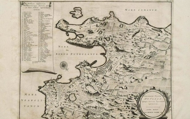 1719 c. van der Aa Map of Naples Bay -- Amoenissimae
