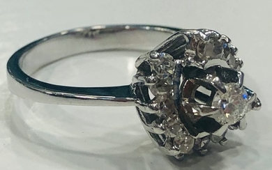 18 kt. White gold - Ring - 0.20 ct Diamond - Diamonds