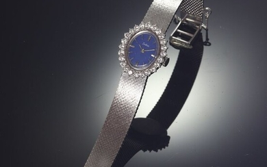 18 kt. White gold - Zodiac wrist watch, Vintage 1970's Seventies - Diamonds, Total diamond weight 2.16 crt - Natural (untreated)