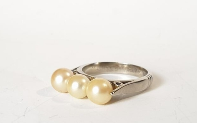 19,2 kt. Gold - Ring Pearl