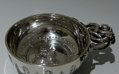 19th Century Antique French Silver Wine Taster Circa