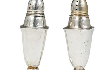 (2 Pc) Sterling Silver Salt and Pepper Shaker Set