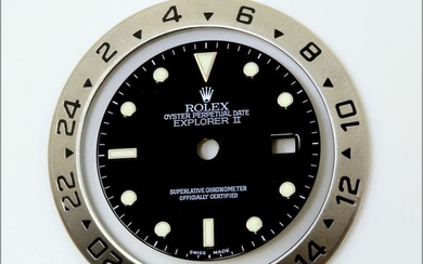 Rolex - Quadrante Swiss Made Luminova e Ghiera per Explorer II Ref. 16570- Men - 2000-2010