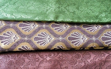 3 pieces Upholstery fabric each piece 280x280 cm - Textiles - 20th century