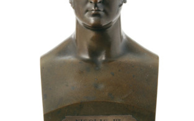 A BRONZE BUST OF EMPEROR NICHOLAS I, RUSSIA, LATE 19TH CENTURY