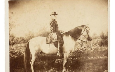 Robert E. Lee on Traveller, Albumen Photograph