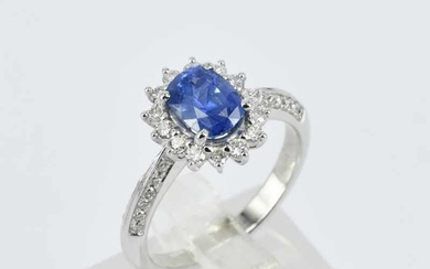 A BLUE SAPPHIRE RING