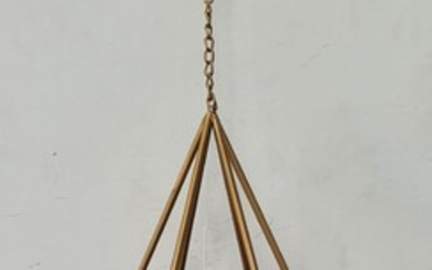 A GEOMETRIC HANGING CANDLE HOLDER