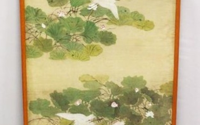 A GOOD CHINESE SCHOOL WATERCOLOUR ON SILK, depicting