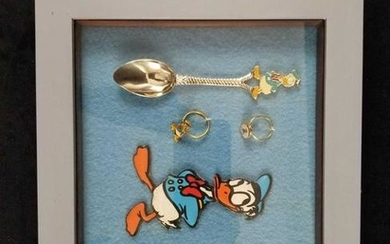 A Lot of 6 Vintage Donald Duck Framed Collectables