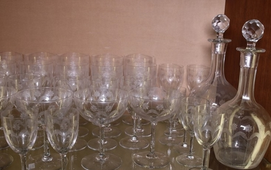 A crystal glasses set